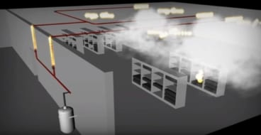 fire protection cheetah xi and fire suppression agent deployment in server room