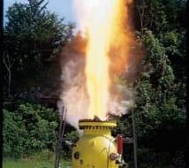 vented explosion test without Fike FlamQuench II device