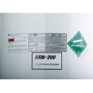 FM-200 (HFC-227ea) clean agent fire suppression tank