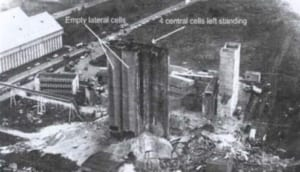 View of the Metz grain elevator after the explosion