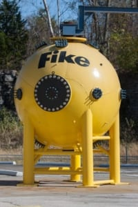 20l sphere to test explosibility of combustible dust at the Fike remote test site