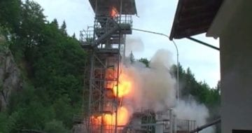 Dust explosion propagation tests performed by FSA (Germany)