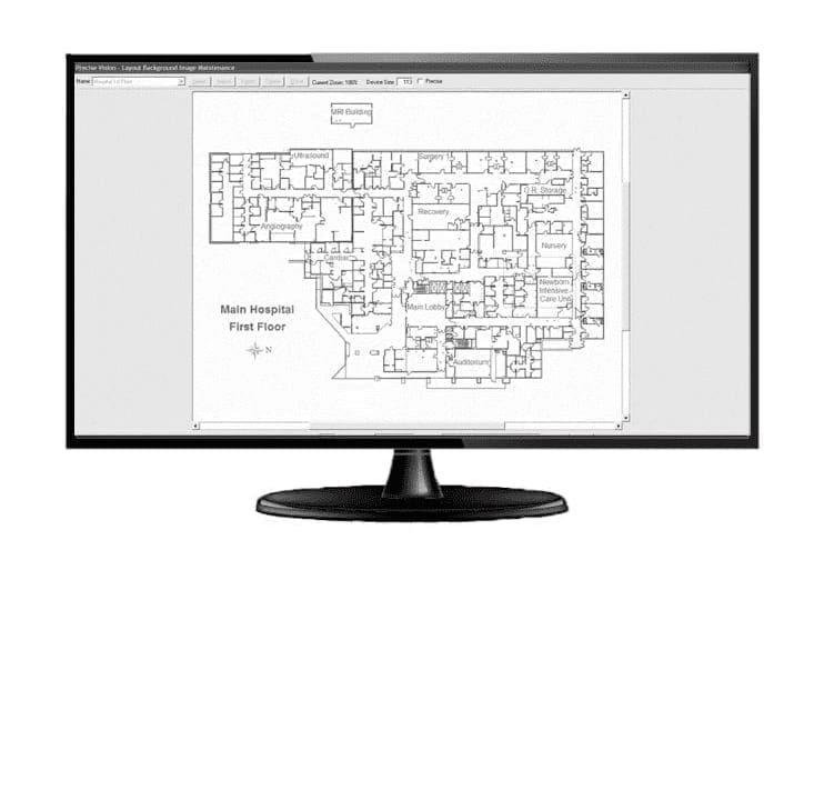 see your facility floor map with the Precise Vision system