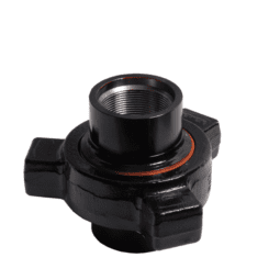 Hammer Union rupture disc holder for oil and gas applications