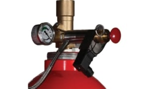 Proinert2 inert gaseous agent fire suppression close up view of the nozzle