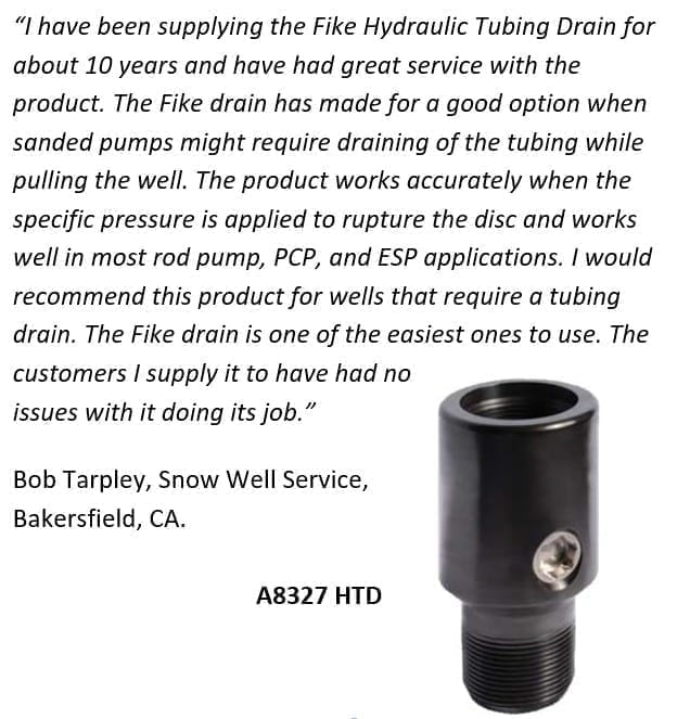 Bob Tarpley, Snow Well Service provides insight on the quality and reliability of Fike htds to the oil and gas industry