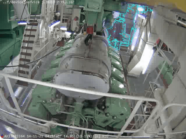 Fike Video Analytics monitors a cruise ship engine room as required under the new F(M-P) category DNV GL guidelines.
