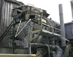 Damage after an aluminum dust deflagration: dust collector (Chemical Safety Board, 2005)